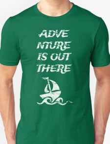 Adventure is Out There: White Unisex T-Shirt