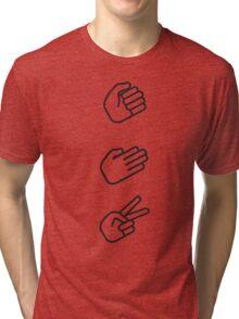 Classic Rock, Paper, Scissors Tri-blend T-Shirt