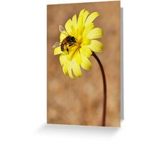Scale Bud and Bee Greeting Card