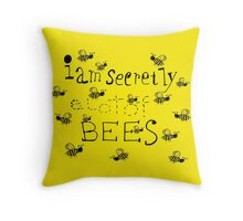Secretly Bees Throw Pillow