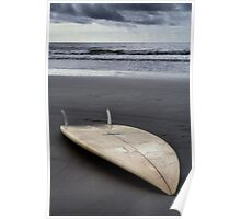 The Lone Surfboard Poster