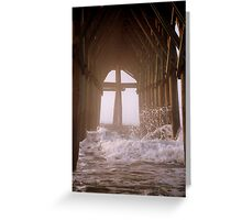 Cross Under The Pier Greeting Card