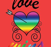 Love wins arrow heart by thesocialbomber