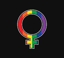 Rainbow Female Symbol Womens Fitted T-Shirt
