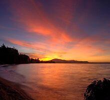 Holdens Bay, Lake Rotorua, Sunset by Michael Treloar
