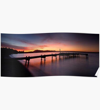 Lake Rotorua Sunset Poster