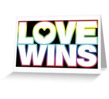 LOVE WINS Greeting Card