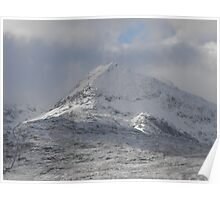 Wintry Welsh hills Poster