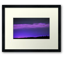 Purple Sky-Available As Art Prints-Mugs,Cases,Duvets,T Shirts,Stickers,etc Framed Print