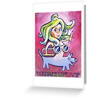 Girl With the etc. etc. Greeting Card
