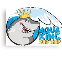 Funny surf shop shark ocean wave Canvas Print