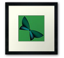 Teal / Turquoise Geometric Butterfly Framed Print