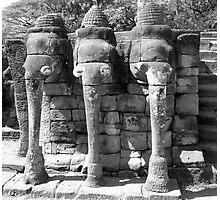 Elephant Shrine, Siem Reap Photographic Print