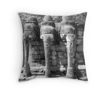 Elephant Shrine, Siem Reap Throw Pillow