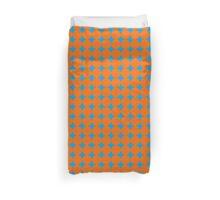 Diamond Brush Stroke Pattern (Blue Orange) Duvet Cover