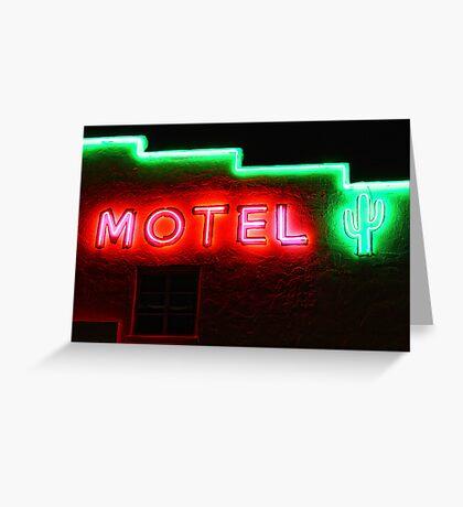 Neon Motel Greeting Card