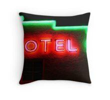 Neon Motel Throw Pillow