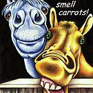 Nobby gets a whiff of something tasty by Margaret Sanderson
