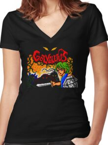 Golvellius  Women's Fitted V-Neck T-Shirt