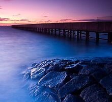 Dusk at Middle Brighton Baths #3 by Jason Green