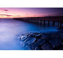 Dusk at Middle Brighton Baths #3 Photographic Print