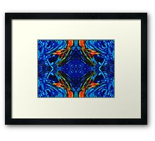 Colorful Blue Abstract - Peace With The Past by Sharon Cummings Framed Print
