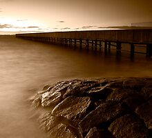 Dusk at Middle Brighton Baths #4 by Jason Green