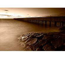 Dusk at Middle Brighton Baths #4 Photographic Print