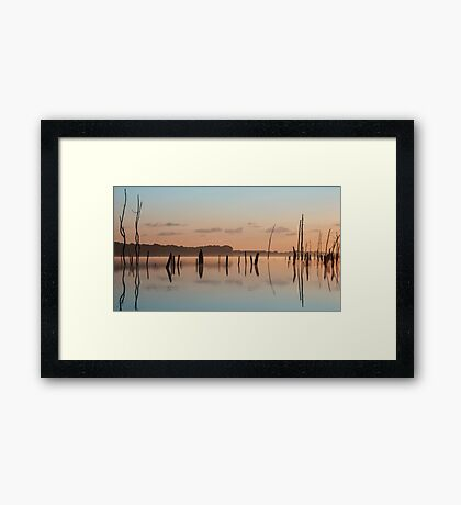 Pink and Blue Skies Framed Print