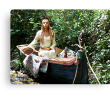 Celtic Goddess in a Boat Canvas Print