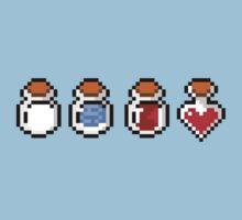 Zelda's potions - pixel art Kids Tee