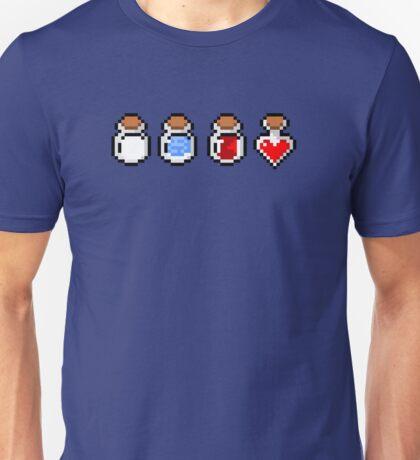 Zelda's potions - pixel art Unisex T-Shirt