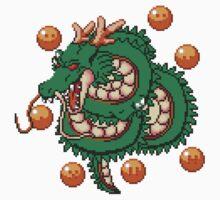 Shenron Dragon Ball - pixel art Kids Clothes