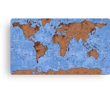 Psychedelic mappemonde Canvas Print