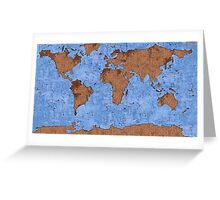 Psychedelic mappemonde Greeting Card