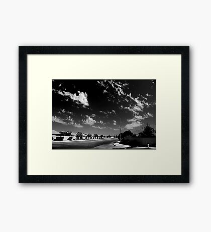 Empty St. Framed Print