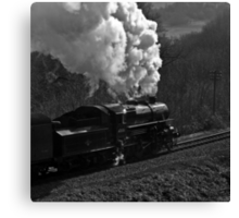 "LMS 2-6-0 Class 4MT no. 43106 ""The Flying Pig"" Canvas Print"