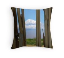 Mount Ararat so near yet so far Throw Pillow
