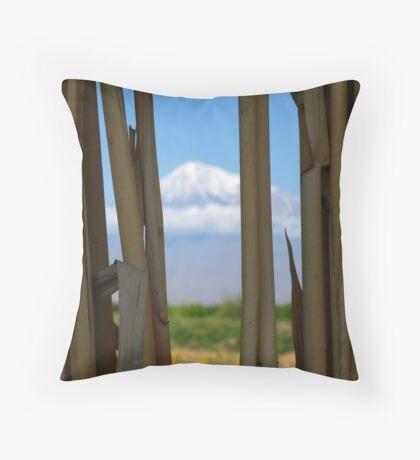 Mount Ararat so near yet so far Throw Pillow