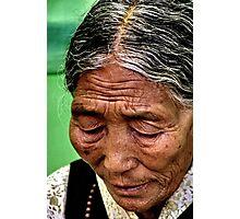 in prayer. northern india Photographic Print