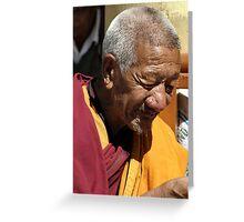 tibetan monk Greeting Card