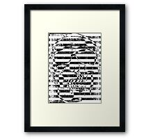 stripes and illusion Framed Print
