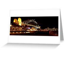 Sydney Harbour Bridge Panorama- Australia Greeting Card