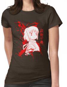 Spirited Ink Scroll Chihiro Womens Fitted T-Shirt