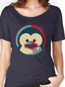 Linux tux penguin obama poster baby  Women's Relaxed Fit T-Shirt