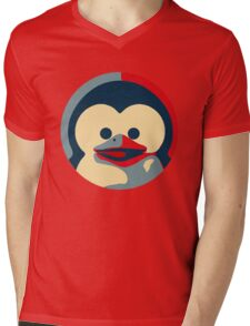 Linux tux penguin obama poster baby  Mens V-Neck T-Shirt