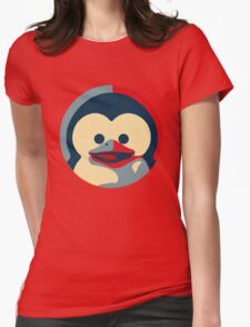 Linux tux penguin obama poster baby  Womens Fitted T-Shirt