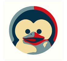 Linux tux penguin obama poster baby  Art Print