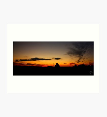 Windella Sunset Panorama- NSW, Australia Art Print