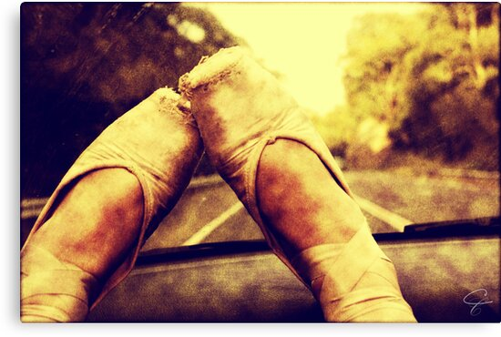 Worn Down Feet by Candice Campbell
